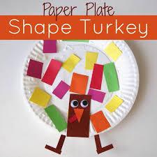 shape turkey childcare ideals thanksgiving craft