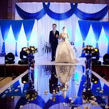 wedding backdrop blue 3pcs lot 1pcs 4 3m 2pcs 2 2m white and blue wedding stage