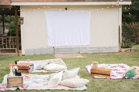 Backyard Movie Night Projector An Easy Backyard Movie Night Sanctuary Home Image With Fascinating