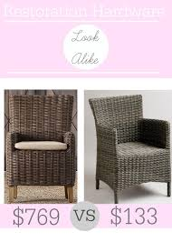 Rite Aid Home Design Wicker Arm Chair Restoration Hardware Majorca All Weather Armchair Look Alike