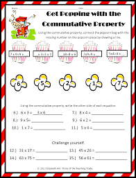 worksheets commutative property of addition worksheets 3rd grade