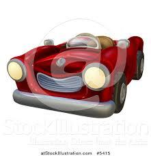 cartoon convertible car vector illustration of a cartoon red vintage convertible car by