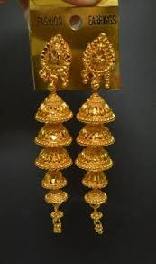 gold earrings jhumka design 22k gold jhumkas 22k gold jhumka jhumkas gold
