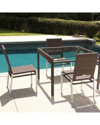 all weather dining table amazing deal on woodard all weather pacific square wicker rattan