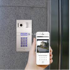 smart home anywhere anytime wifi video door phone with keypad