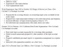 professional sample legal secretary resume bilingual legal