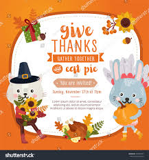 happy thanksgiving day greeting card design stock vector 503407297