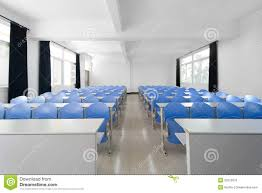 furniture pretty an empty modern college classroom with rows of