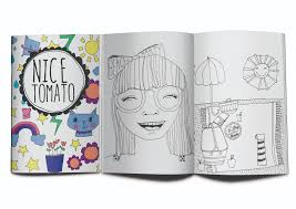 mini coloring book nice tomato makes modern whimsical coloring books