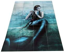 Murals Your Way by Song Of The Sea Sm Tile Mural Our Mermaid And Manatee Tile