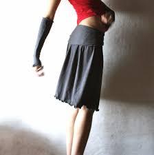 knee length skirt gathered jersey skirt larimeloom
