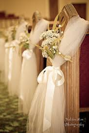 pew decorations for wedding easy and inexpensive idea instead of wedding pew bows