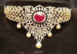 choker necklace jewelry images Diamond jewellery choker necklace south india jewels jpg