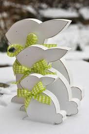 Gisela Graham Easter Decorations 2016 by Wood Fretwork Pastel Yellow Bunny Easter Decoration Gisela Graham