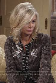 ashley s hairstyles from the young and restless wornontv ashley s tweed jacket with birds on the young and the