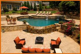 this poolscape design by artistic pools atlanta house