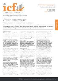 financial factsheets icf financial services