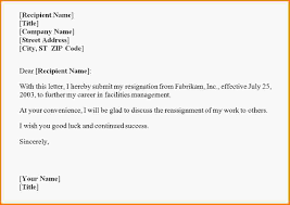 Resignations Letter Template Including The Right Words While Resigning From A Job Can Be