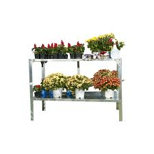Garden Potting Bench Outdoor Metal Shelving Unit Garden Potting Bench In Sturdy