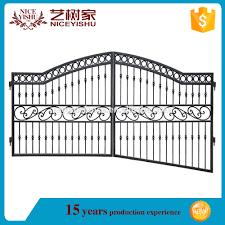 yishujia factory wholesale simple wrought iron gates driveway iron