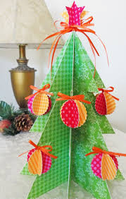 christmas tree made from paper so pretty 48682 green sky