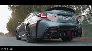 lexus rc modified lexus rc f w armytrix header back valvetronic exhaust v8 sounds