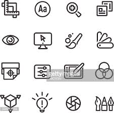 design icons and design icons set 1 purple line series vector getty