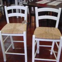 White Wooden Bar Stool Furniture Grey Wooden Bar Stools With Sloping Base And Footrest