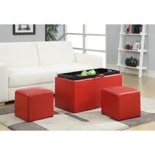 red ottomans u0026 poufs you u0027ll love wayfair