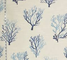 sale blue coral fabric watercolor from brick house fabric