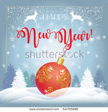 merry happy new year greeting stock vector 535536733