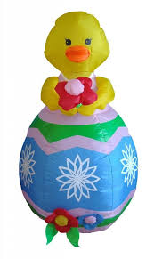 Easter Decorations To Buy Online by Amazon Com 4 Foot Easter Inflatable With Flower Yard