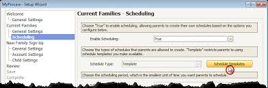 myprocare turn on family selected scheduling procare support