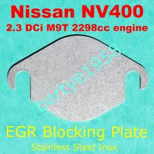 nissan qashqai limp mode egr valve block plate nissan nv400 2 3 dci 2298cc m9t engine