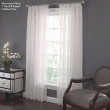 Pinch Pleated Semi Sheer Curtains Sheer Curtains U0026 Window Treatments Touch Of Class