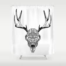 Skull Shower Curtain Hooks Deer Skull Shower Curtain By Huebucket Society6