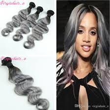 ombre hair weave african american 3 bundles 1b grey dark roots ombre hair extensions sliver gray