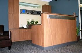 Plywood Reception Desk Corporate Reception Desk Ck Valenti Designs Inc