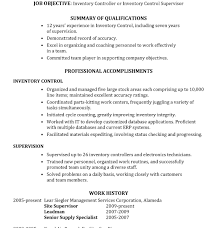 Inventory Specialist Job Description Resume by Cool And Opulent Inventory Control Resume 1 Resume Sample