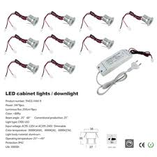 cree under cabinet lighting 9pcs set 3w led downlight led cabinet light 30mm cut with ce