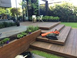 beautiful decking makes the outside entertaining area very
