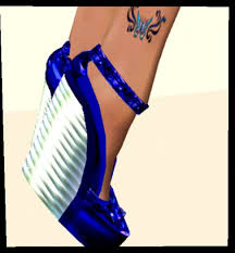 second life marketplace love dark blue neon wedges perfect fit