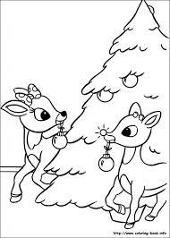 reindeer coloring sheets eliolera
