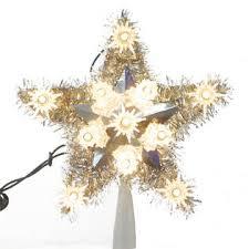 trim a home silver tinsel star christmas tree topper 10
