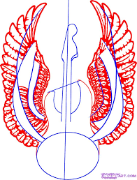 how to draw a guitar with wings by tattoos pop culture