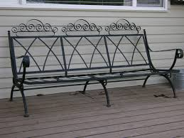 Black Wrought Iron Patio Furniture by Vintage Patio Furniture Set Ornate Wrought Iron French Country