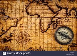 Map With Compass Travel Geography Navigation Concept Background Old Vintage Retro