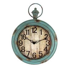 Large Shabby Chic Wall Clock by Big Large Indoor Outdoor Vintage Aged Shabby Chic Wall Clock