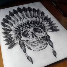 etching skull indian tattoo best tattoo ideas gallery
