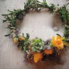 crowning floral spray desert flower crown succulents lavender and spray roses www